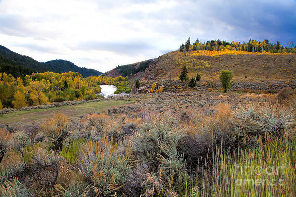 Photograph - The Gro Ventre River Valley by Jim Garrison