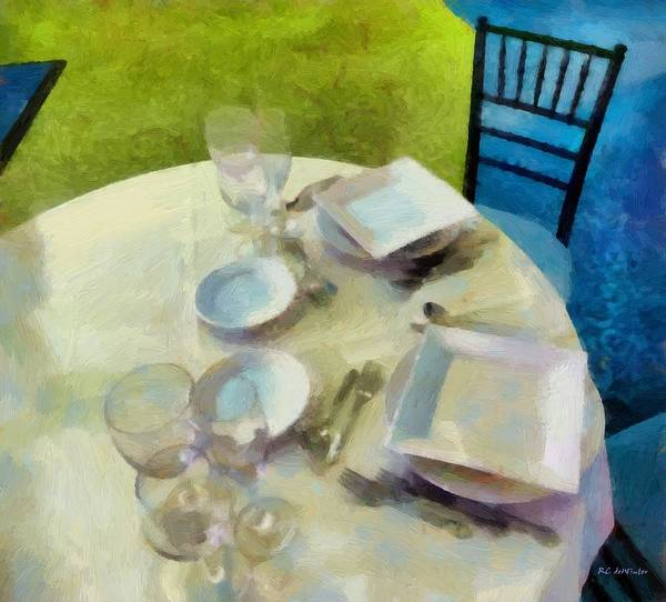 Painting - The Geometry Of The Table by RC DeWinter
