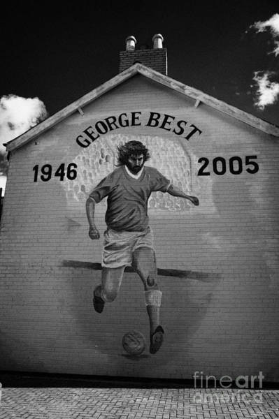 Wall Art - Photograph - The George Best Memorial Mural On The Lower Cregagh Road In Belfast Northern Ireland by Joe Fox