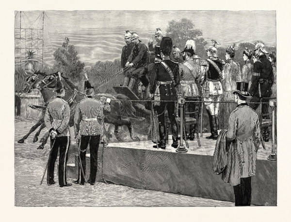 Brigade Drawing - The German Emperors Visit To The Crystal Palace by English School
