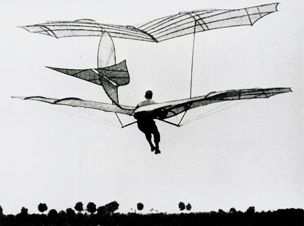 Glider Wall Art - Photograph - The German Glider Pioneer Otto Lilienthal by Science Photo Library