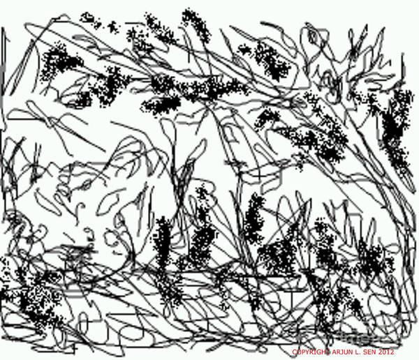 Surrealist Drawing - The Ghost Leopard by Arjun L Sen