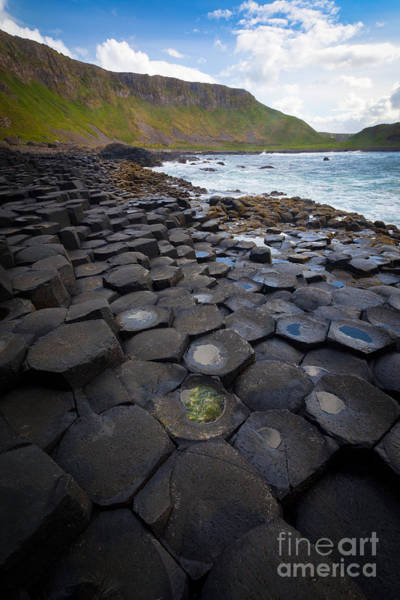 Basalt Photograph - The Giant's Causeway - Staircase by Inge Johnsson