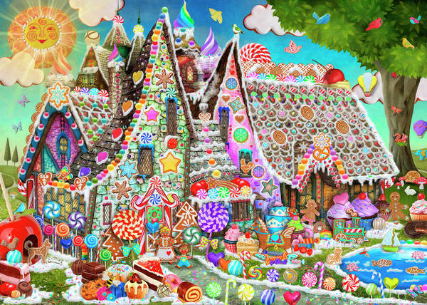 Wall Art - Painting - The Gingerbread House by MGL Meiklejohn Graphics Licensing