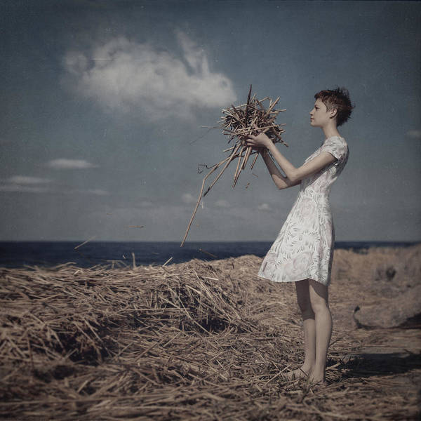 Wall Art - Photograph - The Girl And The Sky Bunnie by Anka Zhuravleva