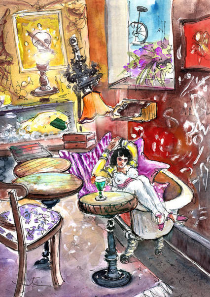 Painting - The Goya Girl In A Ruin Bar In Budapest by Miki De Goodaboom