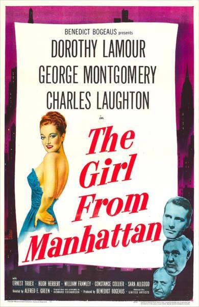 Wall Art - Photograph - The Girl From Manhattan, Us Poster by Everett