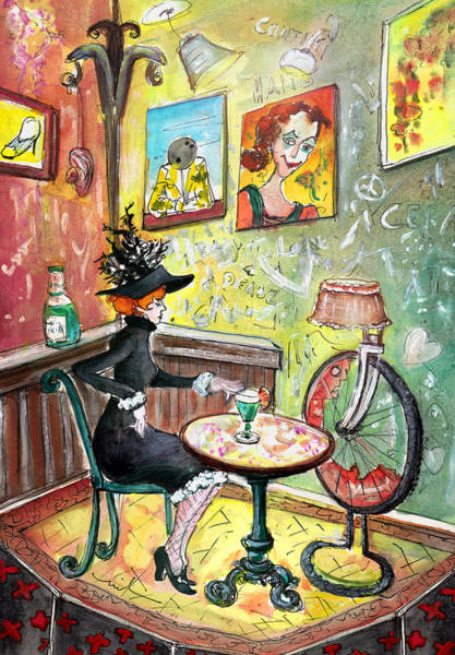 Painting - The Lautrec Girl In A Ruin Bar In Budapest by Miki De Goodaboom