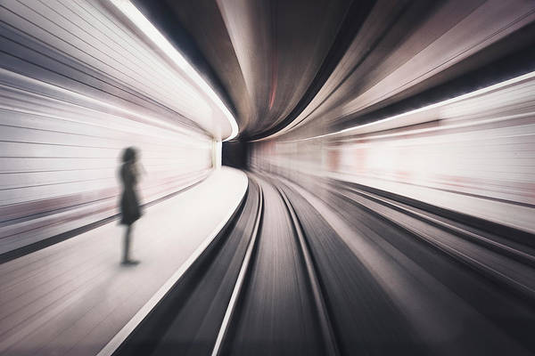 Speed Wall Art - Photograph - The Girl Of The Metro Station by David Krischke