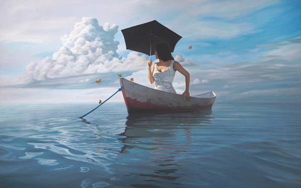 Idealism Wall Art - Painting - The Girl Who Married A Cloud by Paul Bond