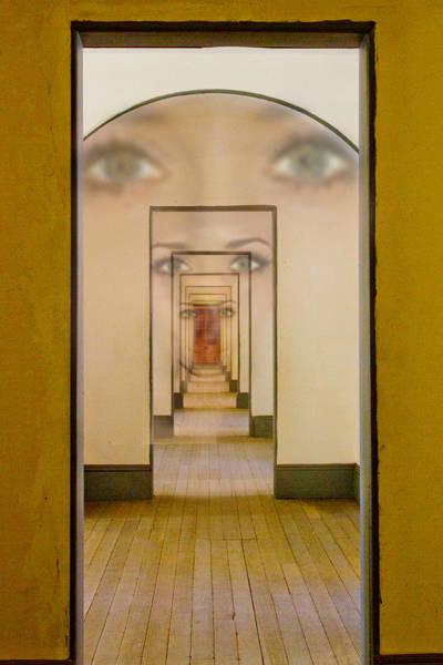 Mystic Digital Art - The Girl With Far Away Eyes by Bill Gallagher