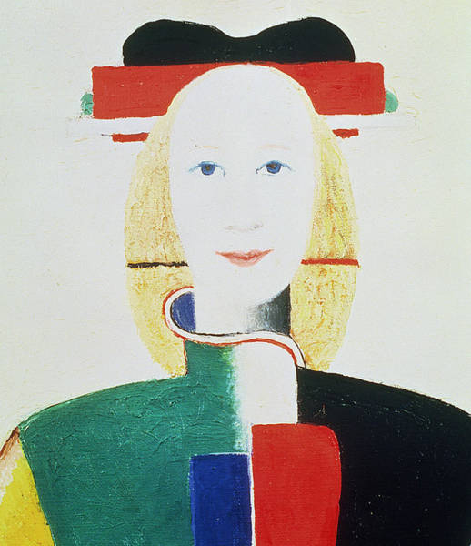 Color Block Painting - The Girl With The Hat by Kazimir Severinovich Malevich