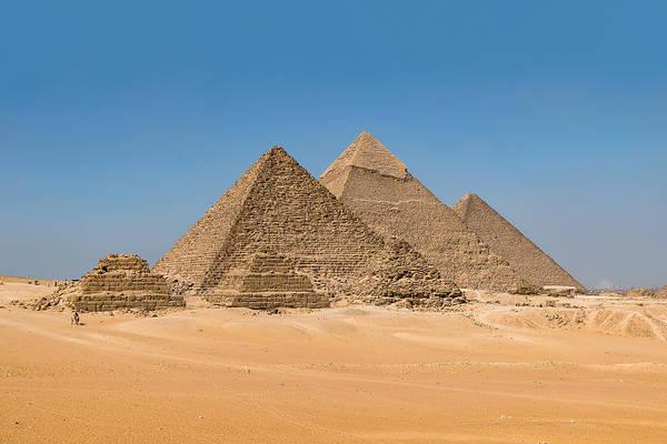 Photograph - The Giza Pyramids by Mark Whitt
