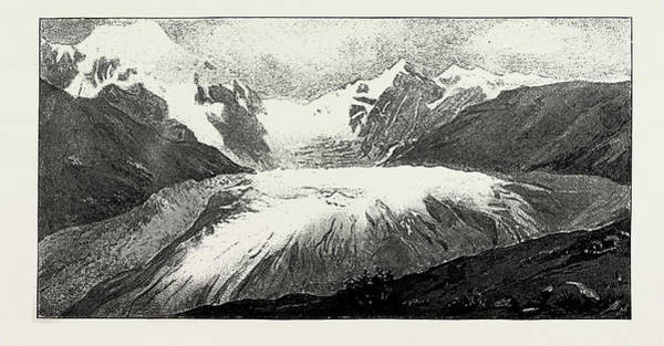 Wall Art - Drawing - The Glacier Of Adish, Suanetia by Litz Collection
