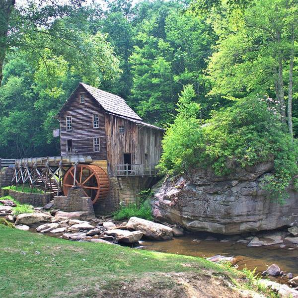 Photograph - The Glade Creek Grist Mill by Gordon Elwell