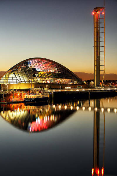 Photograph - The Glasgow Science Centre by Grant Glendinning