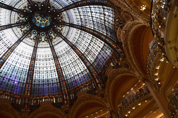 Galeries Lafayette Photograph - The Glass Dome Of The Galeries Lafayette In Paris by RicardMN Photography