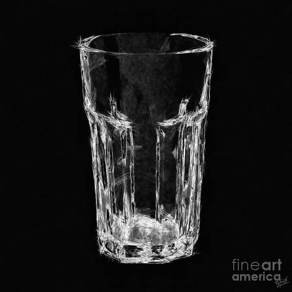 Negative Space Digital Art - The Glass by Nishanth Gopinathan