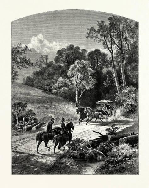 1924 Drawing - The Glen, Newport by J.d. Woodward, John Douglas (1846?1924), American