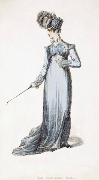 Georgian Drawing - The Glengary Habit, Fashion Plate by English School