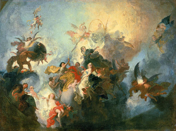 Baroque Photograph - The Glorification Of The Order Of Premonstratensians, C.1765 Sketch by Franz Anton Maulbertsch