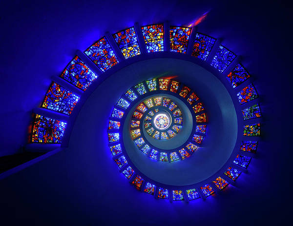 Mosaic Photograph - The Glory Window by Michael Zheng