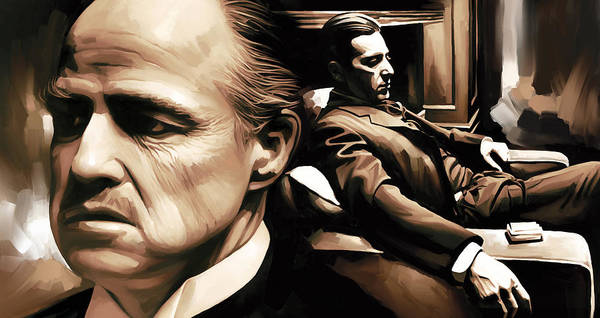 Wall Art - Painting - The Godfather Artwork by Sheraz A