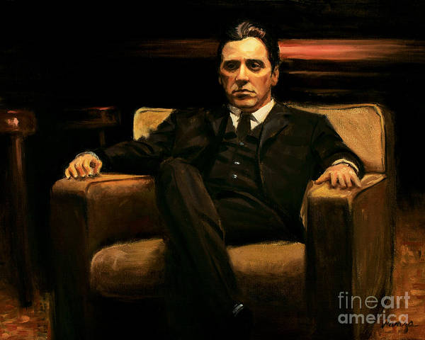Alla Prima Painting - The Godfather by Christopher Panza