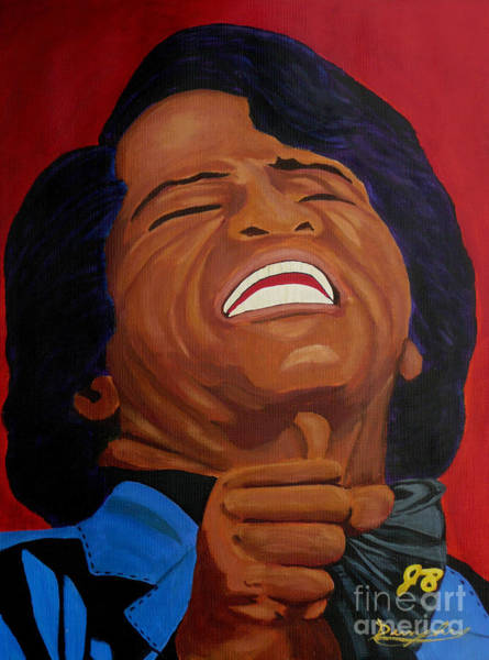 Wall Art - Painting - The Godfather Of Soul by Anthony Dunphy