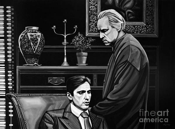 Wall Art - Painting - The Godfather  by Paul Meijering