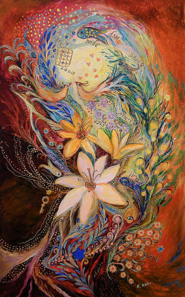 Wall Art - Painting - The Golan Heights Lilies by Elena Kotliarker