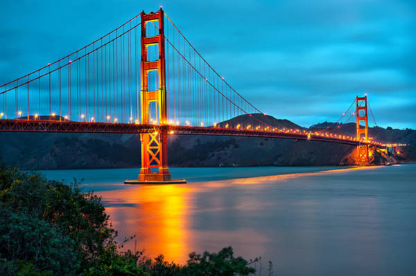 Photograph - The Golden Gate Bridge - San Francisco California by Gregory Ballos
