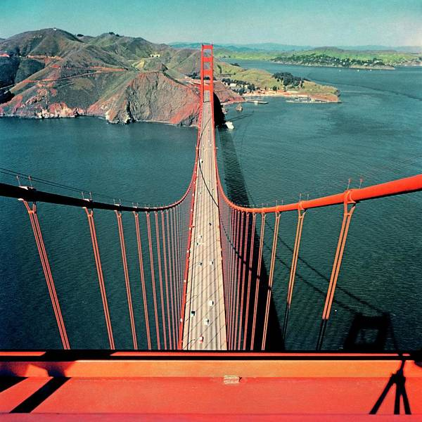 Architecture Photograph - The Golden Gate Bridge by Serge Balkin