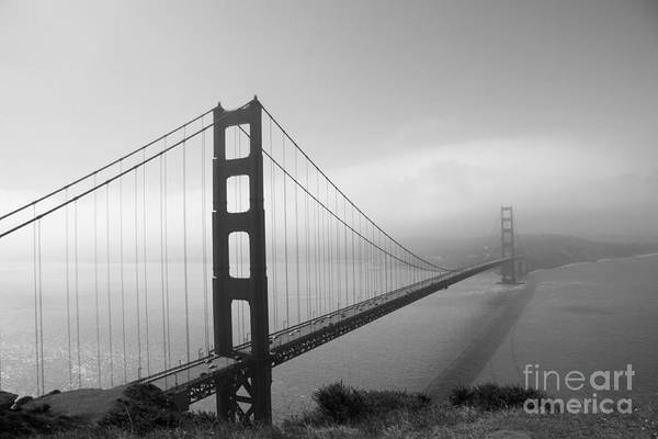Wall Art - Photograph - The Golden Gate In A Mist by Christiane Schulze Art And Photography