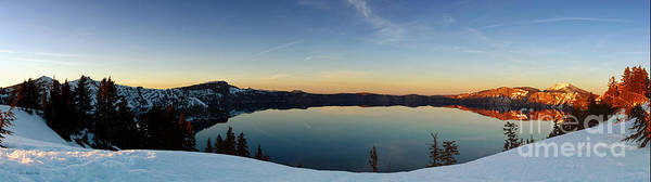 Photograph - The Golden Hour - Crater Lake by Beve Brown-Clark Photography