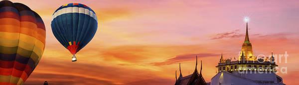 Wall Art - Photograph - The Golden Mount At Wat Saket by Anek Suwannaphoom