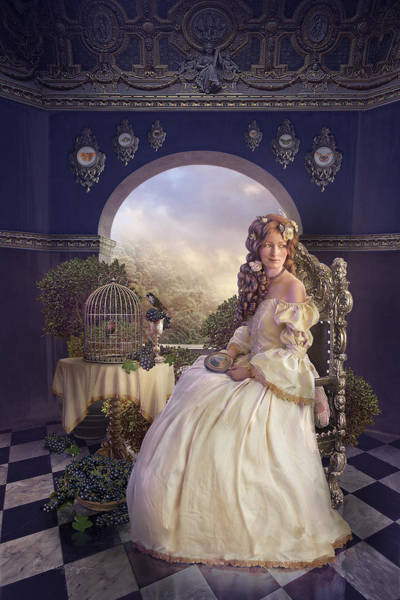 Shipping Digital Art - The Golden Room by Cassiopeia Art