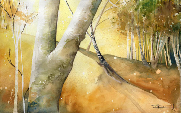 Painting - The Golden Wood by Sean Parnell