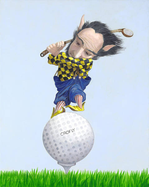 Wall Art - Painting - The Golfer by Leonard Filgate