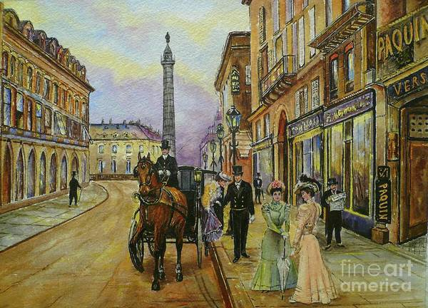 Wall Art - Painting - The Good Ole Days-an Evening Out by Andrew Read
