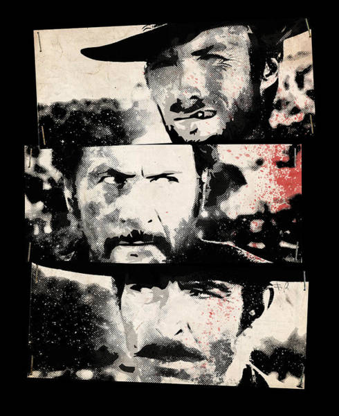 Ugly Digital Art - The Good The Bad And The Ugly by Filippo B