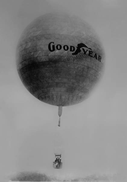 Photograph - The Goodyear Balloon by Bill Cannon