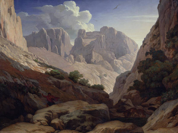 North Africa Wall Art - Photograph - The Gorges Of Atlas, 1843 Oil On Canvas by Paul Jean Flandrin