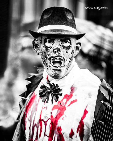 People Wall Art - Photograph - The Gory Creepy Zombie  by Stwayne Keubrick