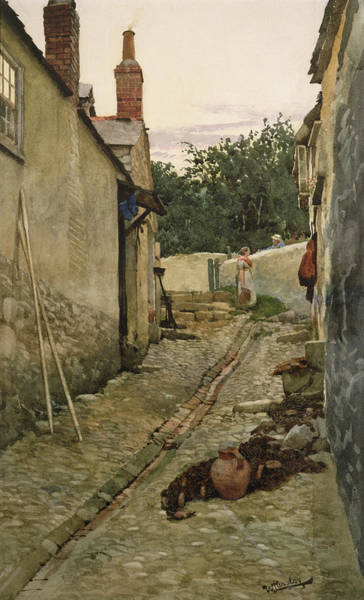 Newlyn Painting - The Gossips by Walter Langley
