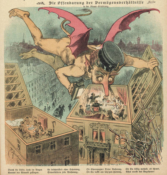 Devilish Drawing - The Government, Caricatured by Mary Evans Picture Library