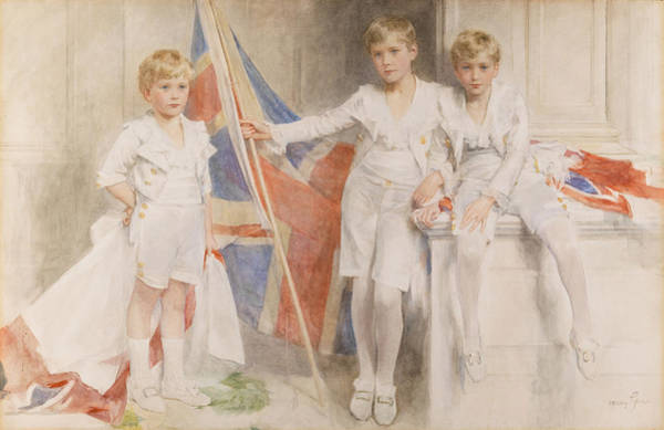Innocence Drawing - The Gow Brothers, 1914 by Mary L. Gow