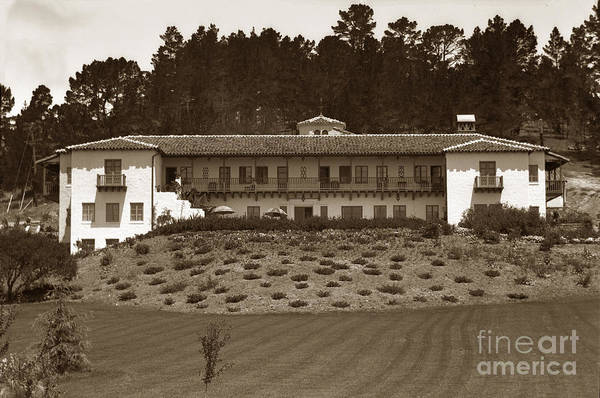 Photograph - The Grace Deere Velie Metabolic Clinic Carmel-by-the-sea Calif 1934 by California Views Archives Mr Pat Hathaway Archives