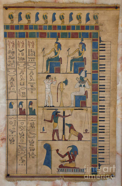 Philae Painting - The Graceland Papyrus by Richard Deurer