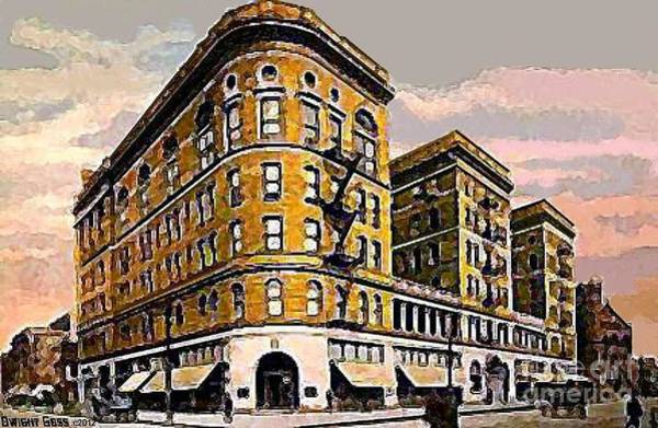 Monticello Painting - The Granby Theatre And Monticello Hotel In Norfolk Va In 1902 by Dwight Goss